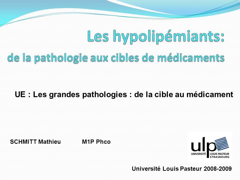 SCHMITT Mathieu M1P Phco UE : Les grandes pathologies : de la cible au médicament Université Louis Pasteur 2008-2009