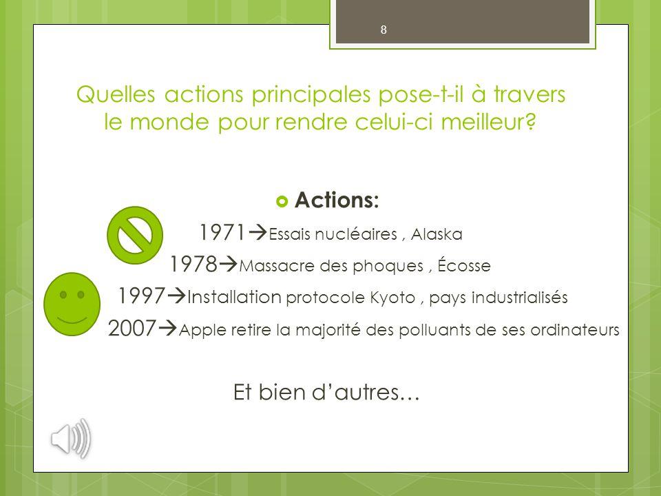 9 Quelles sont les conséquences qui résultent des actions posées par Greenpeace.