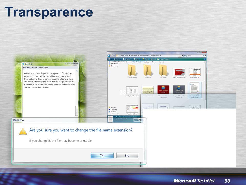 38 Transparence 38