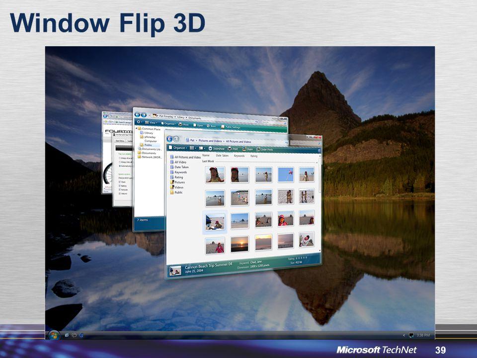 39 Window Flip 3D