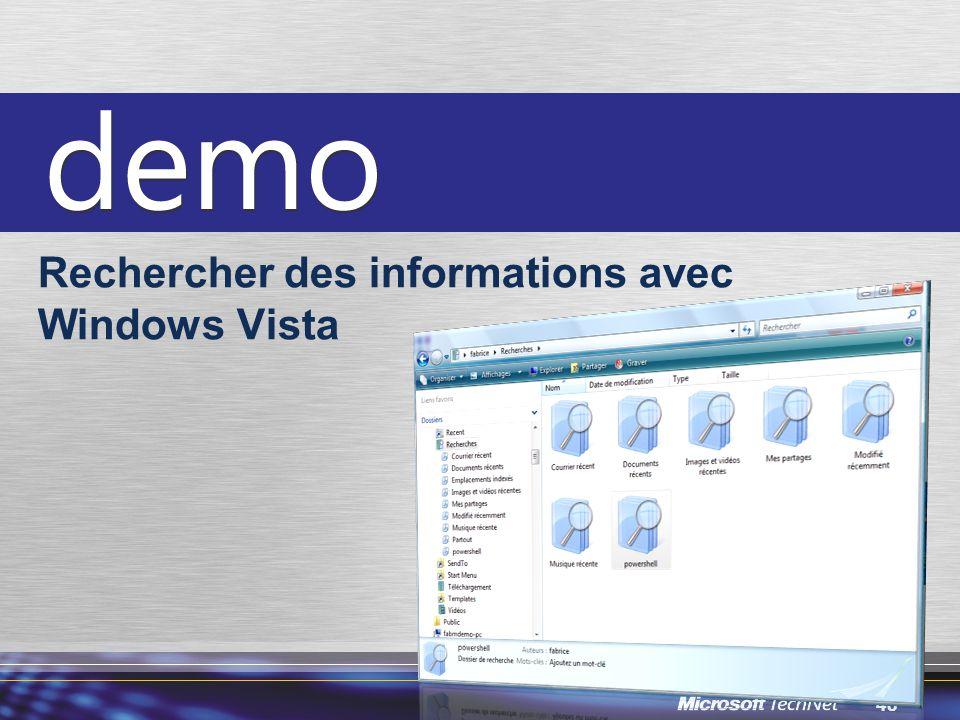 48 Rechercher des informations avec Windows Vista