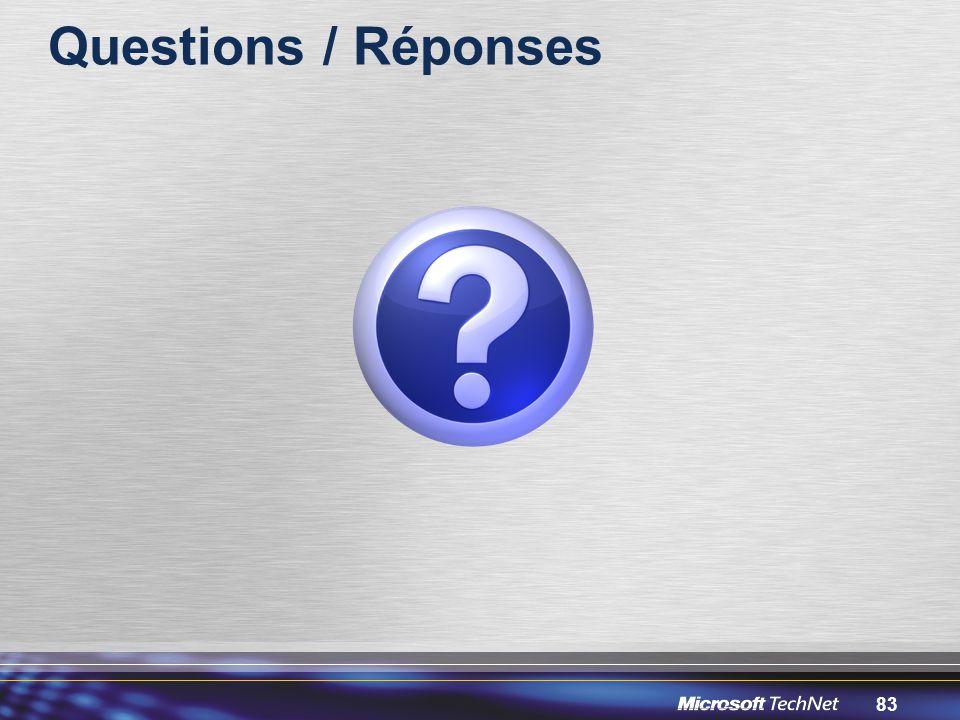 83 Questions / Réponses