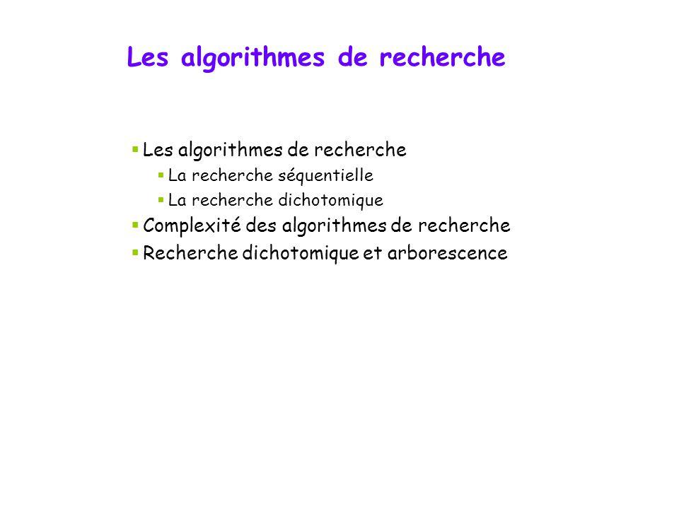 Structures de données IFT-2000 Abder Alikacem Semaine 10 Les algorithmes de recherche Les structures arborescentes Département d'informatique et de gé
