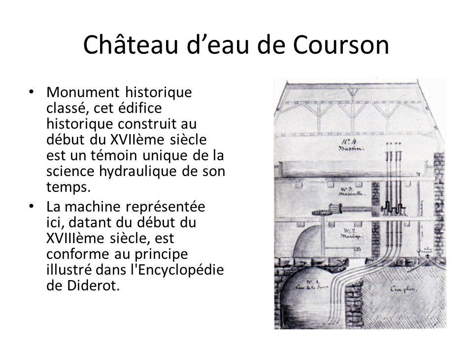 Château d'eau de Courson Monument historique classé, cet édifice historique construit au début du XVIIème siècle est un témoin unique de la science hydraulique de son temps.