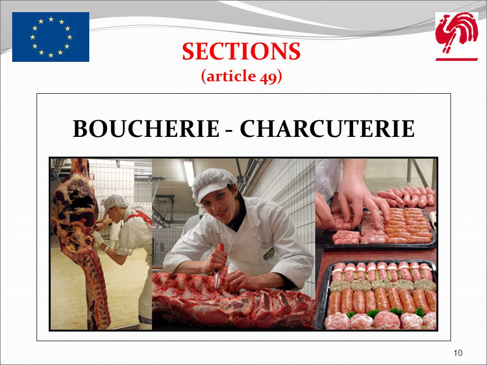 BOULANGERIE - PATISSERIE SECTIONS (article 49) 11