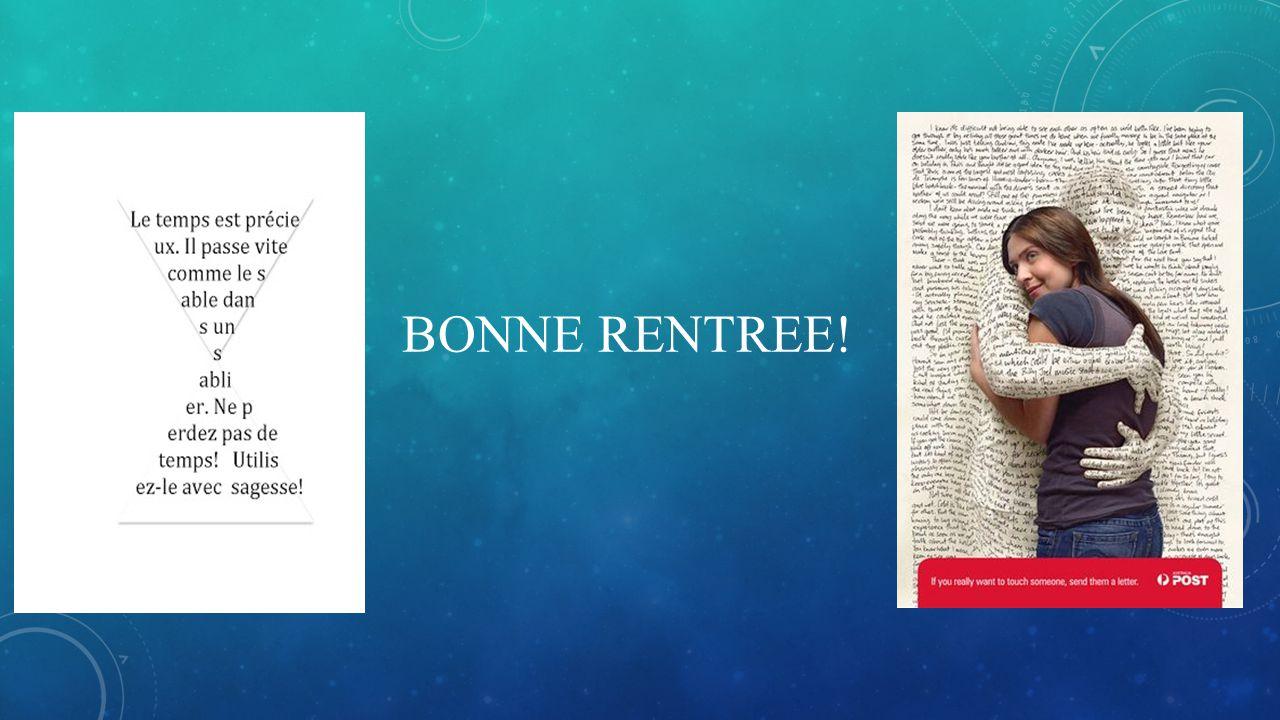 BONNE RENTREE!