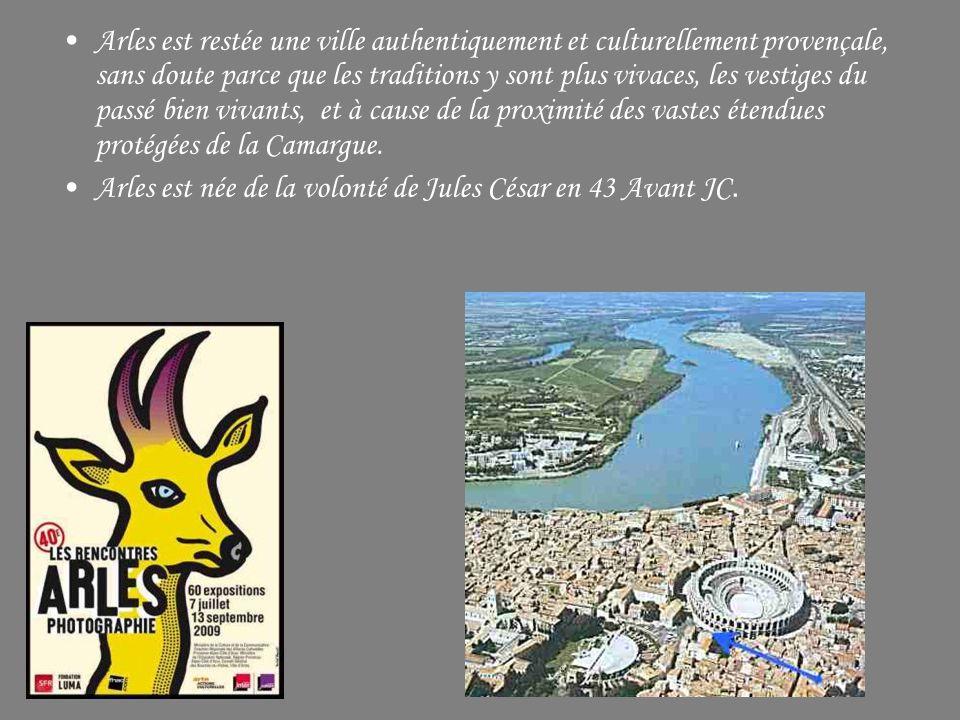 Arles est restée une ville authentiquement et culturellement provençale, sans doute parce que les traditions y sont plus vivaces, les vestiges du passé bien vivants, et à cause de la proximité des vastes étendues protégées de la Camargue.