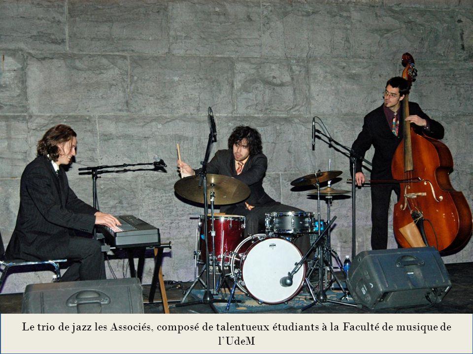 Le trio de jazz les Associés, composé de talentueux étudiants à la Faculté de musique de l'UdeM