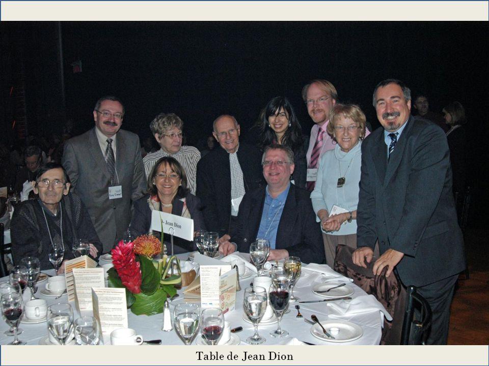 Table de Jean Dion