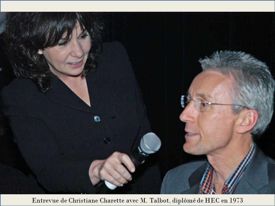 Entrevue de Christiane Charette avec M. Talbot, diplômé de HEC en 1973