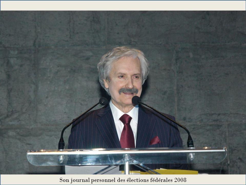 Son journal personnel des élections fédérales 2008