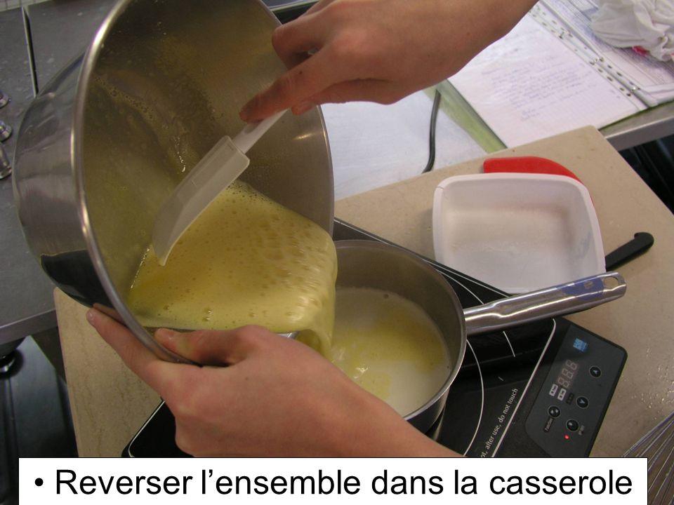 Reverser l'ensemble dans la casserole