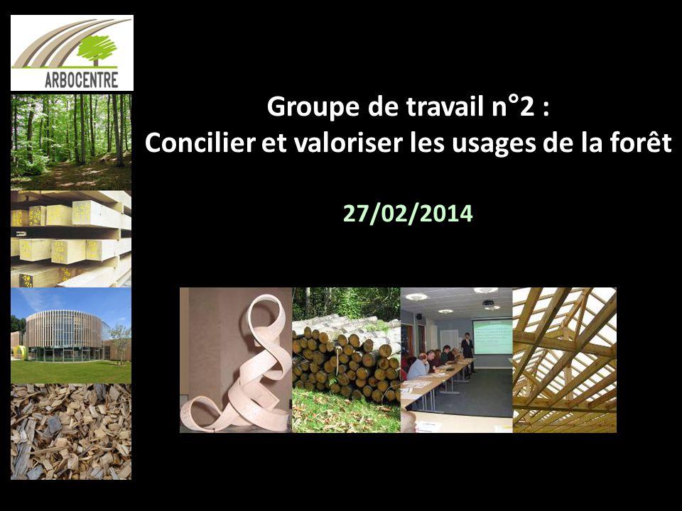 Groupe de travail n°2 : Concilier et valoriser les usages de la forêt 27/02/2014