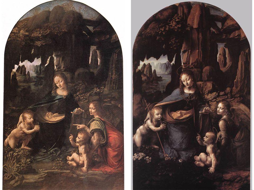 Mona Lisa (La Gioconda), (entre 1503 et 1506) Ces deux procédé, de chiaroscuro et de sfumato, se retrouvent dans la toile la plus connue de Léonard, la Joconde.