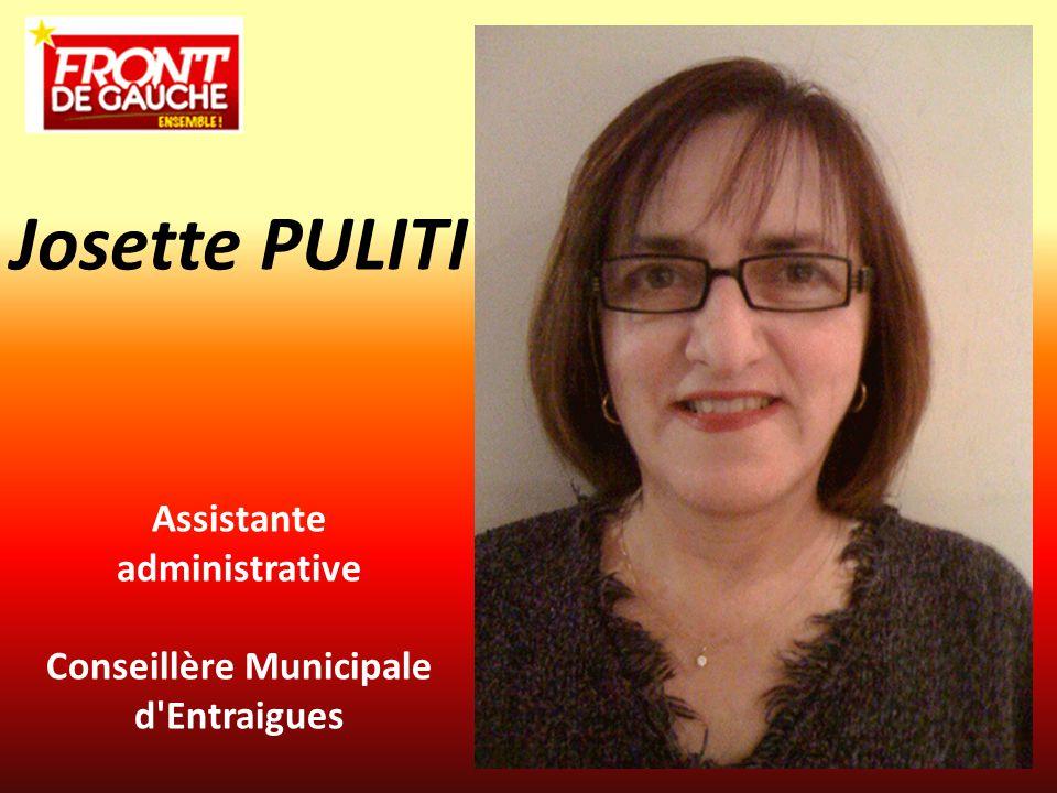 Assistante administrative Conseillère Municipale d'Entraigues Josette PULITI