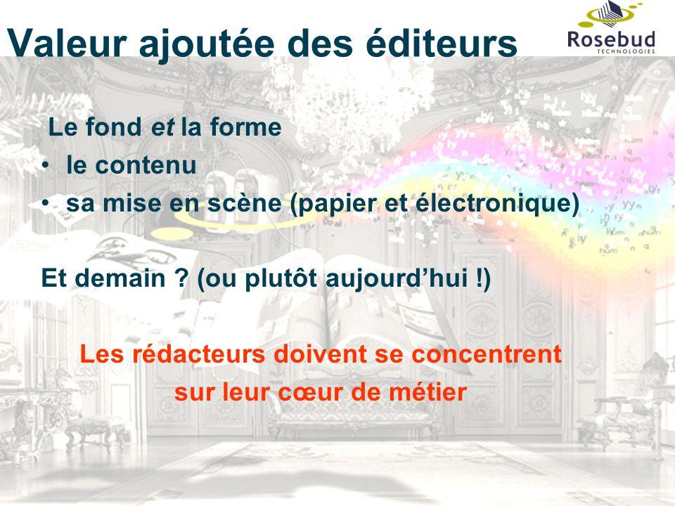 9 Valeur ajoutée des éditeurs Le fond et la forme le contenu sa mise en scène (papier et électronique) Et demain .