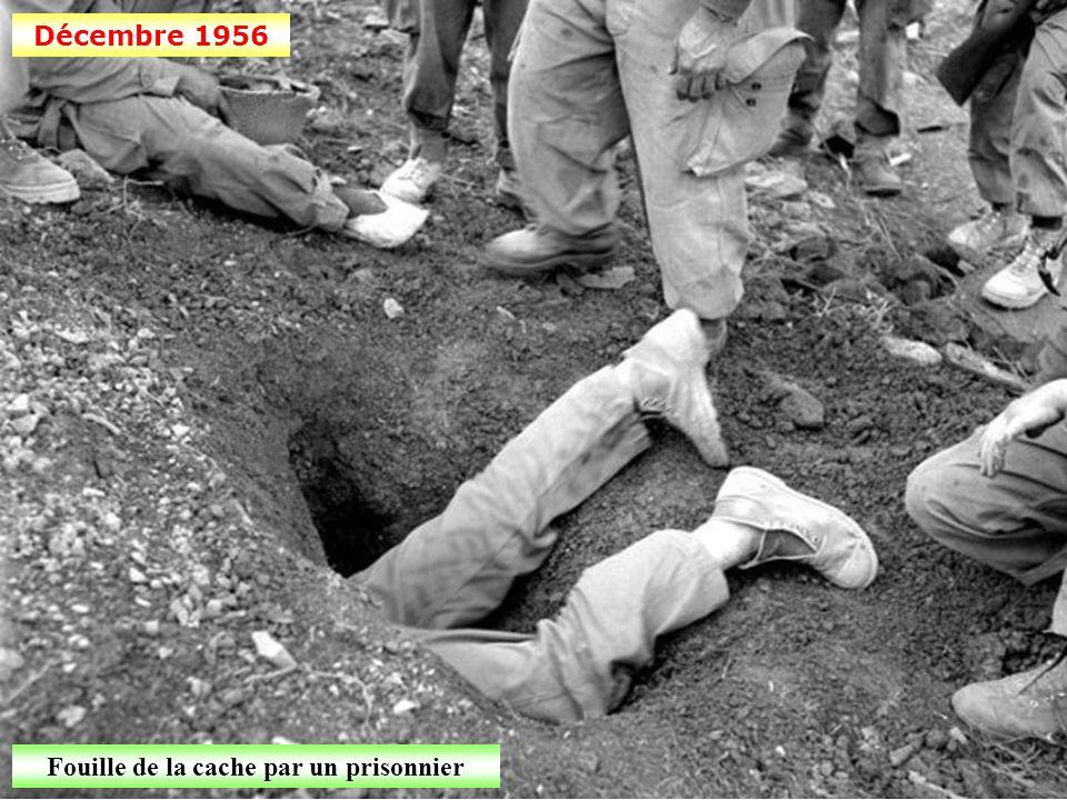 Décembre 1956 Découverte d'une cache dans la région de Montagnac