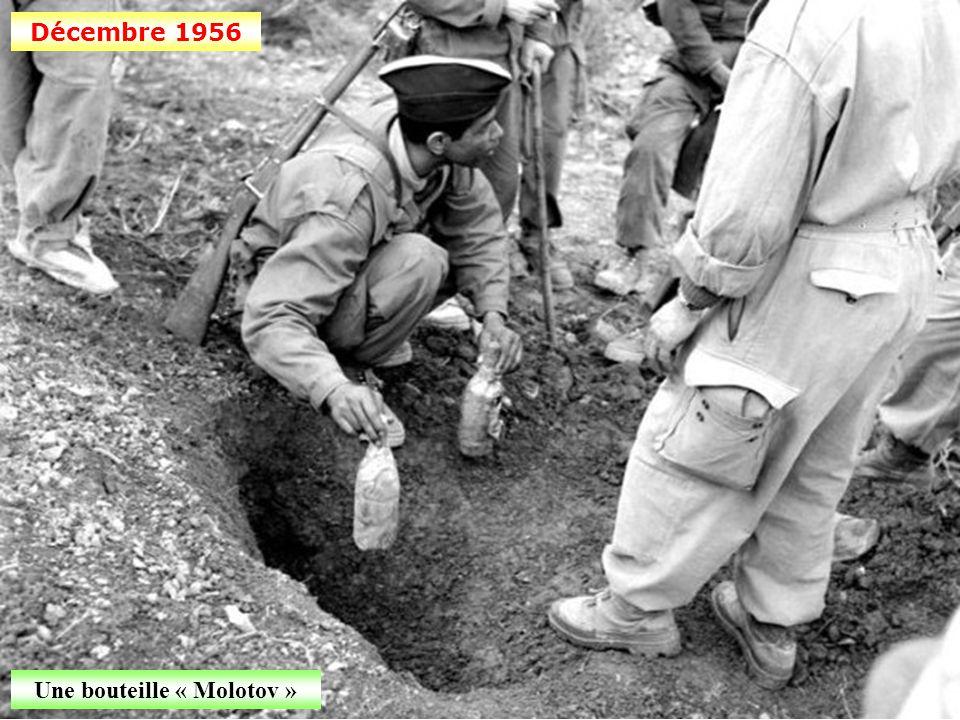 Décembre 1956 Fouille de la cache par un prisonnier