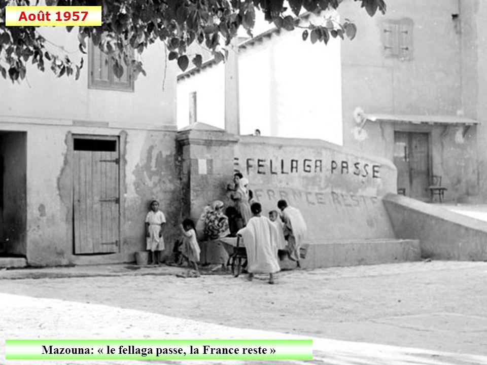 Août 1957 Journée d'action psychologique au village de Mazouna (Oranais)
