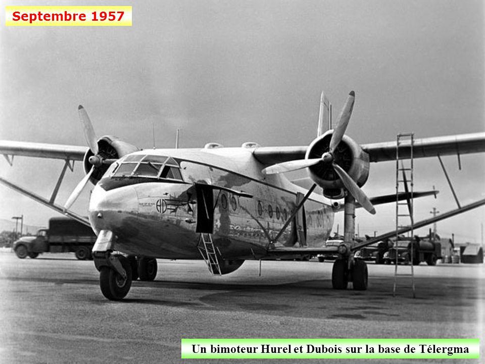 Septembre 1957 Hélicoptère Sikorsky H 34 sur la base aérienne de Télergma