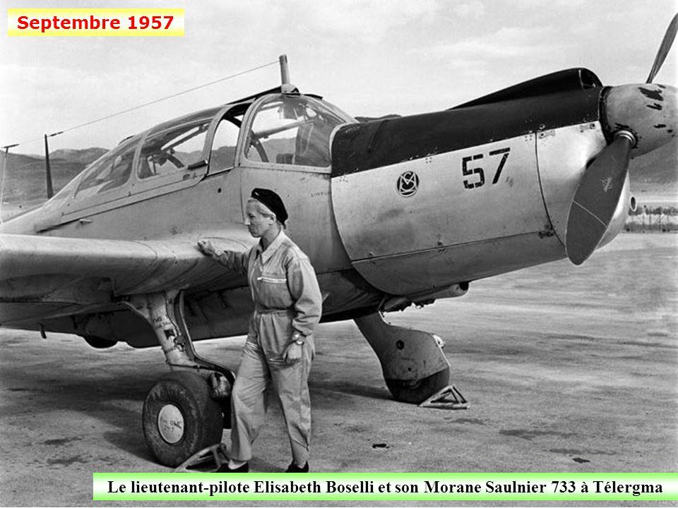 Septembre 1957 Un bimoteur Hurel et Dubois sur la base de Télergma