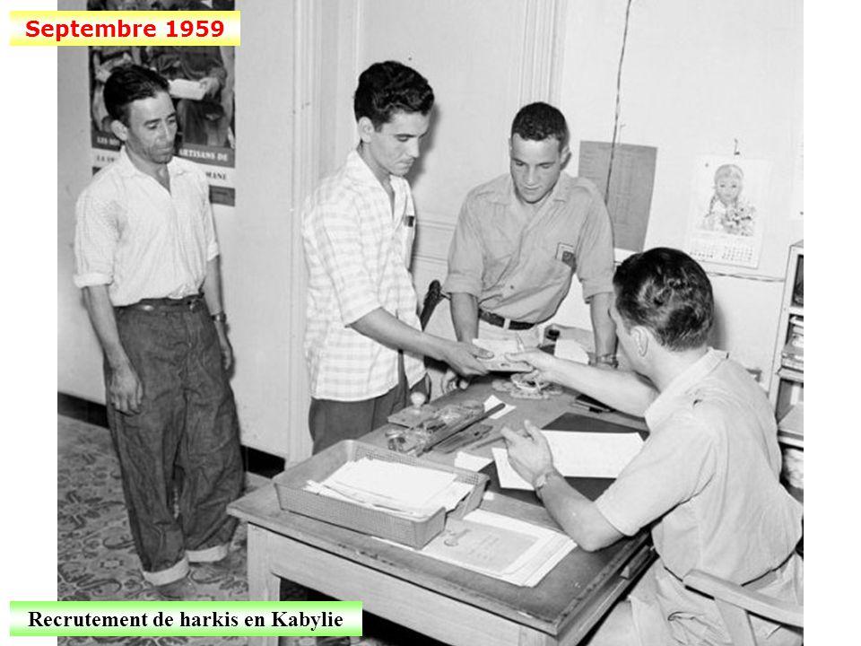 Août 1959 Des fusiliers marins en Kabylie