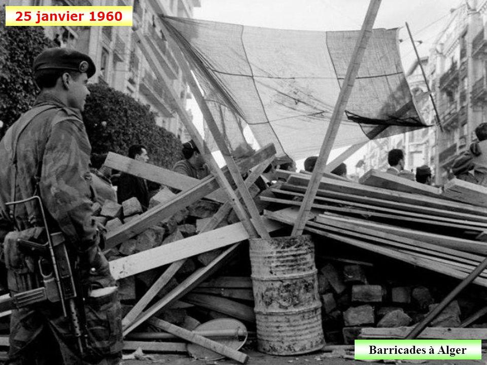 24 janvier 1960 Journées insurrectionnelles d'Alger