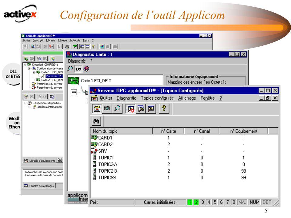 5 Configuration de l'outil Applicom