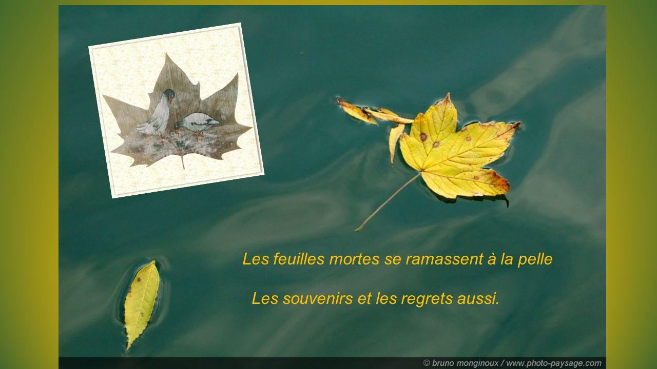 Les feuilles mortes se ramassent à la pelle Tu vois, je n'ai pas oublié