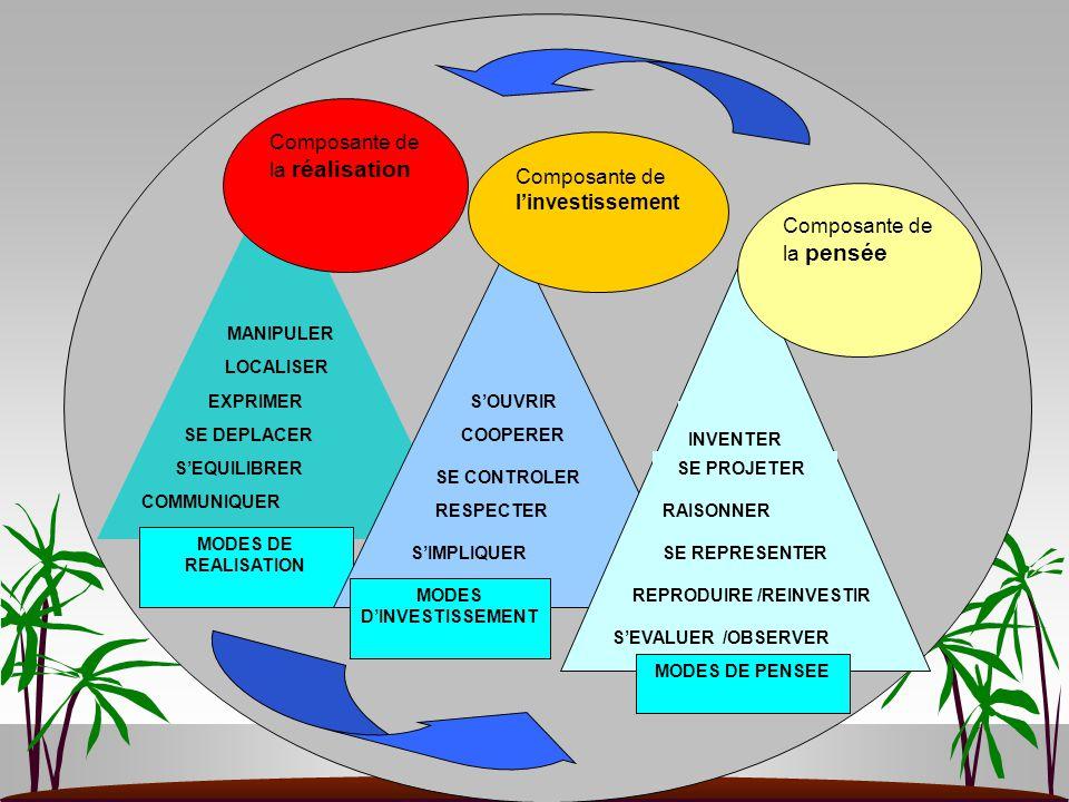 MODES DE REALISATION Composante de la réalisation MODES D'INVESTISSEMENT Composante de l'investissement Composante de la pensée MODES DE PENSEE COMMUN