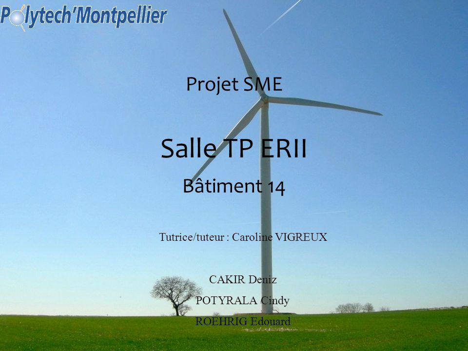 1 Projet SME Salle TP ERII Bâtiment 14 Tutrice/tuteur : Caroline VIGREUX CAKIR Deniz POTYRALA Cindy ROEHRIG Edouard