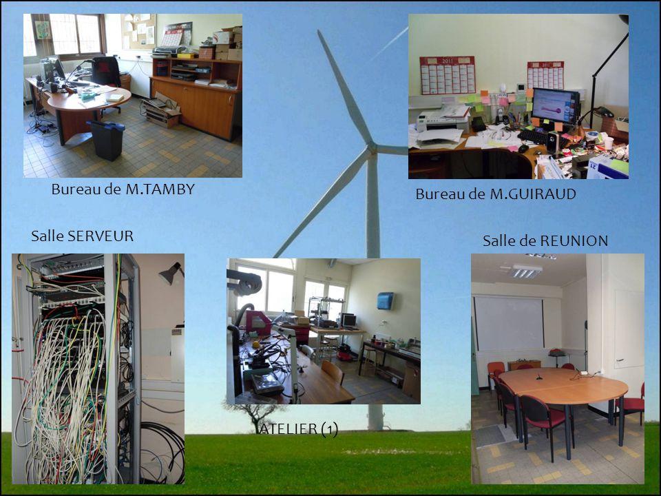 5 Bureau de M.TAMBY Bureau de M.GUIRAUD Salle SERVEUR Salle de REUNION ATELIER (1)
