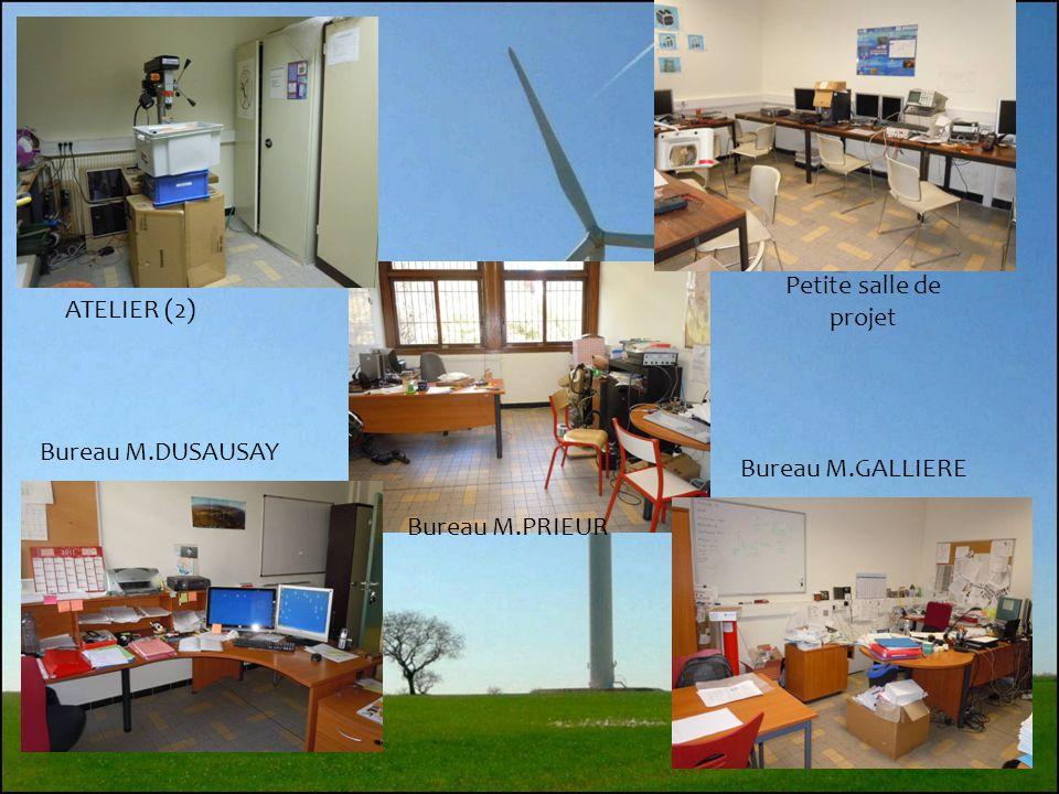 7 Salle de PROJET et poste type Salle de CAO et poste type Salle de ELECTRONIQUE et poste type