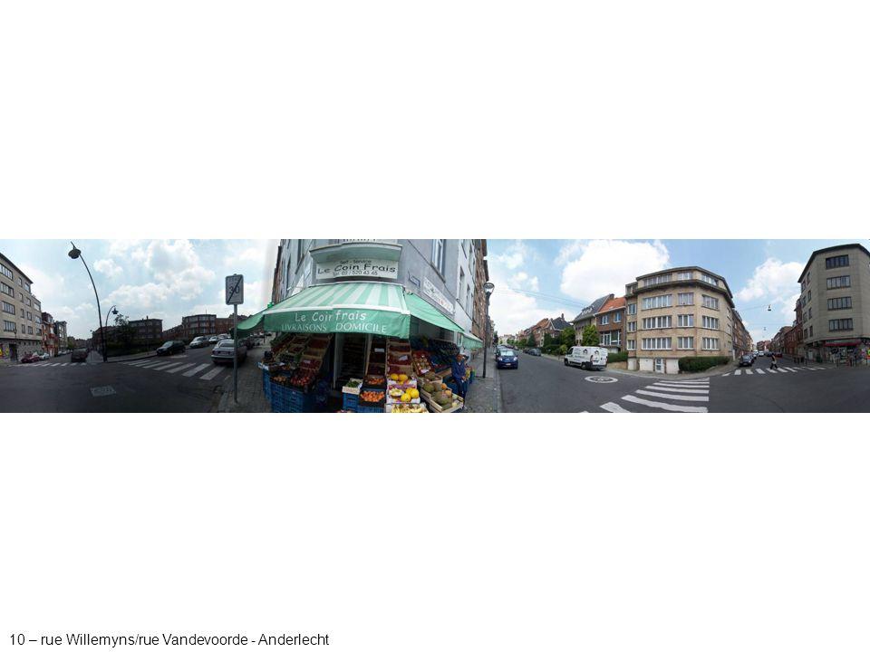 10 – rue Willemyns/rue Vandevoorde - Anderlecht
