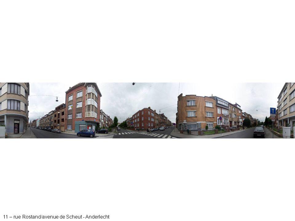 11 – rue Rostand/avenue de Scheut - Anderlecht