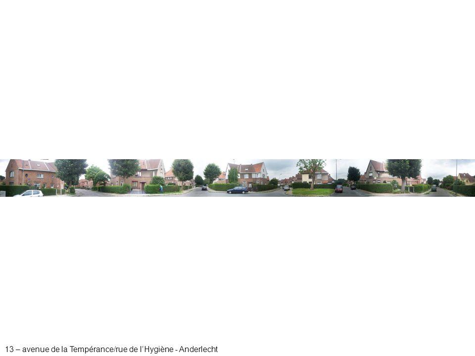 13 – avenue de la Tempérance/rue de l'Hygiène - Anderlecht