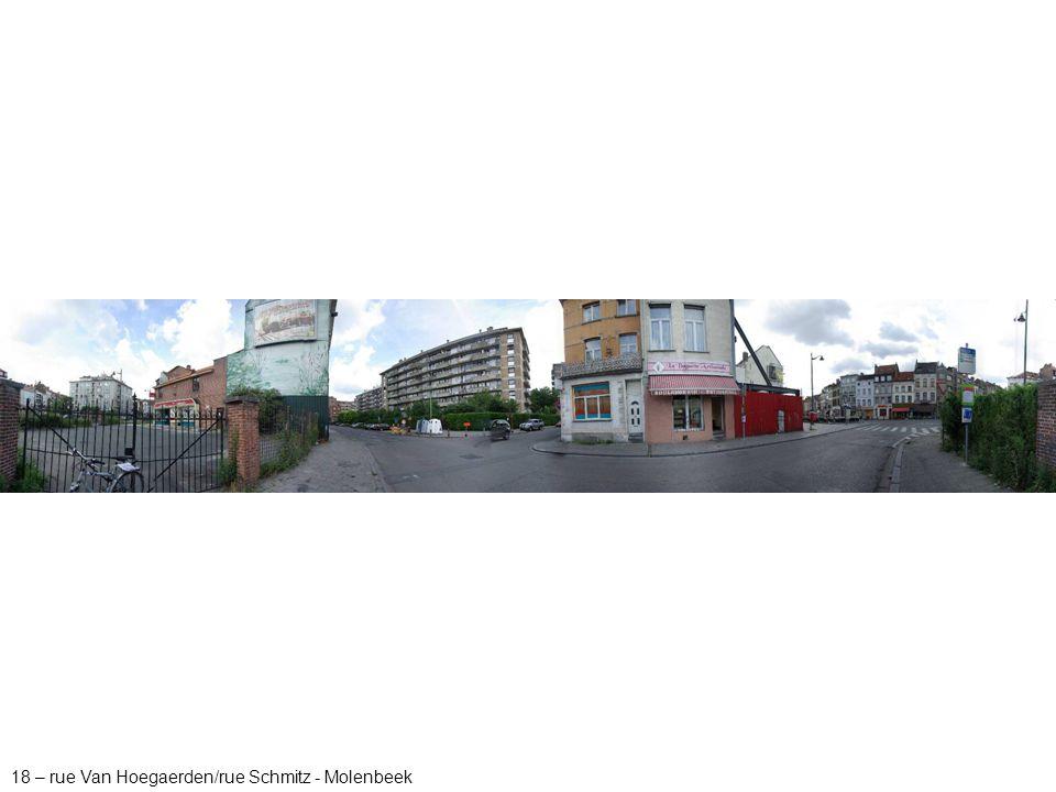 18 – rue Van Hoegaerden/rue Schmitz - Molenbeek
