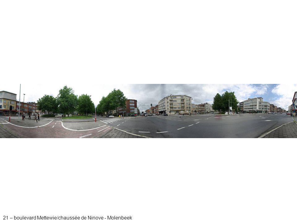 21 – boulevard Mettewie/chaussée de Ninove - Molenbeek