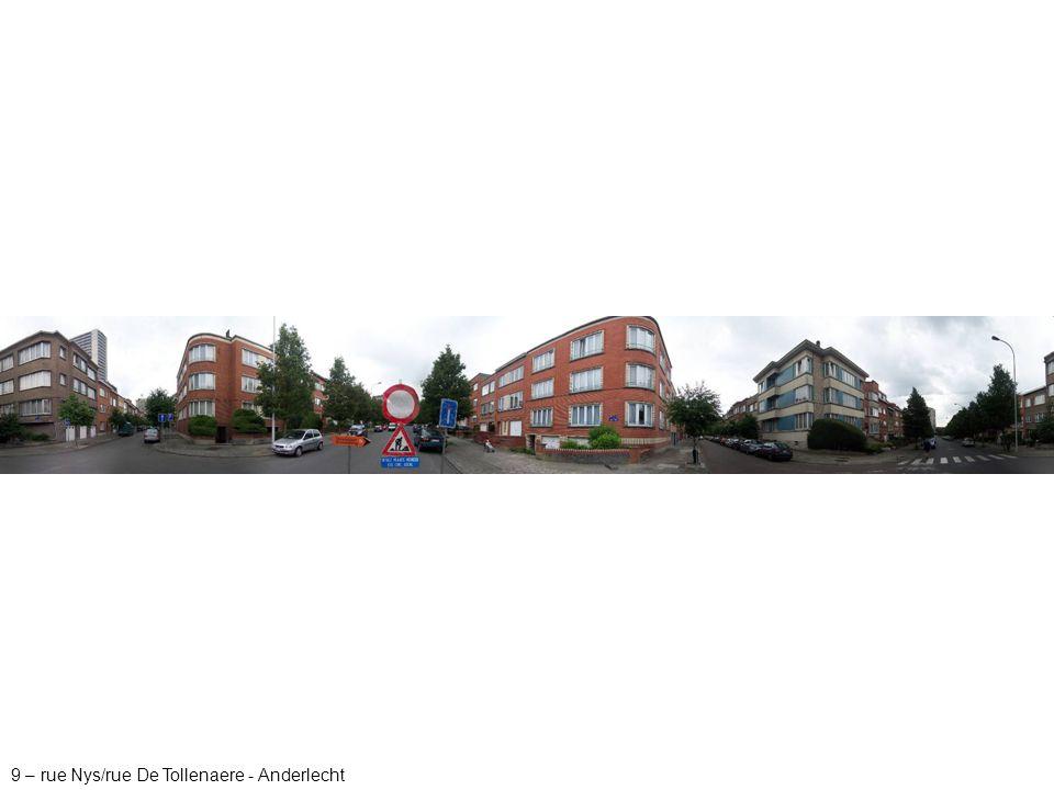 9 – rue Nys/rue De Tollenaere - Anderlecht