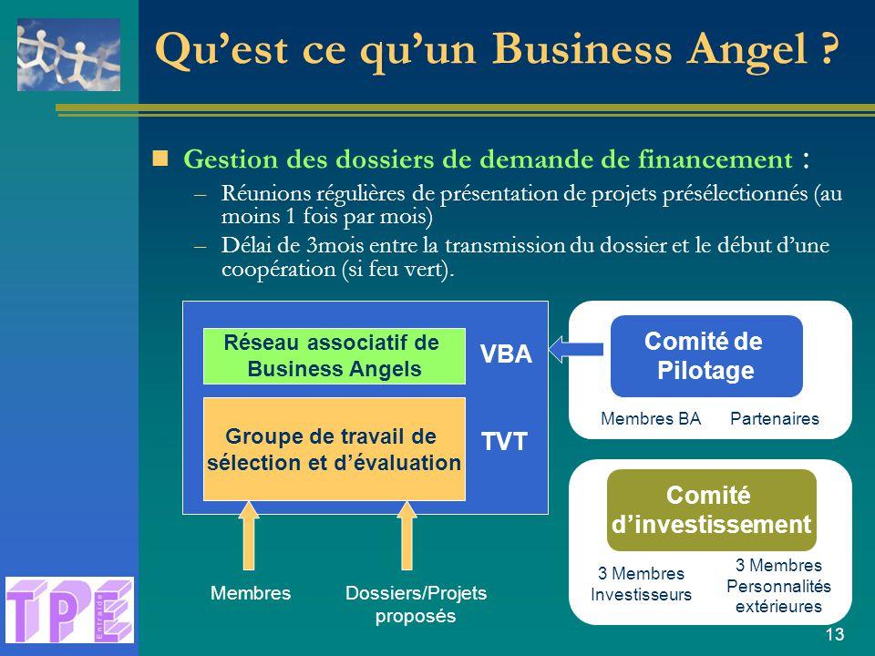 13 Qu'est ce qu'un Business Angel .