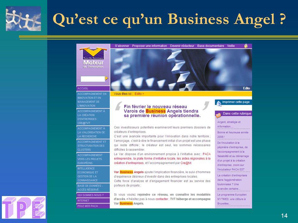 14 Qu'est ce qu'un Business Angel ?