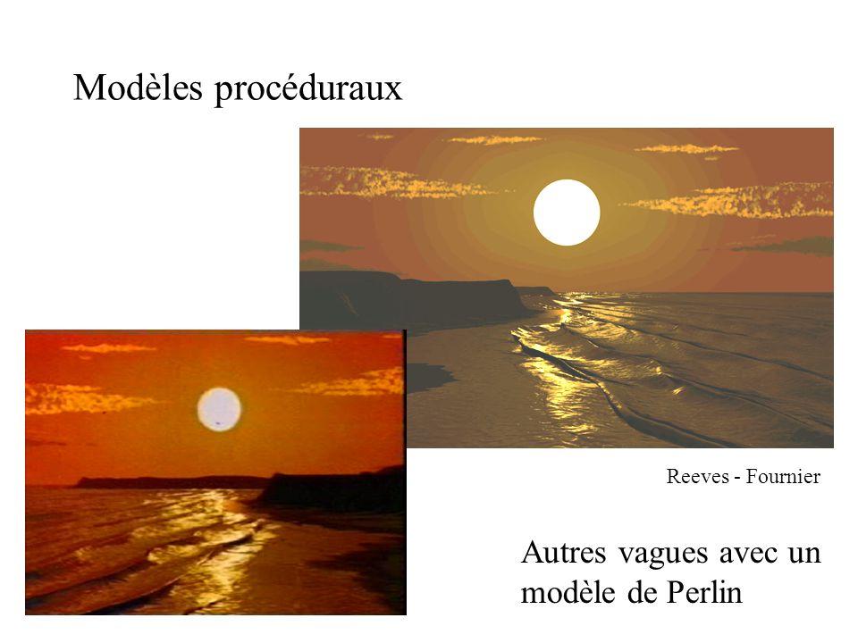 Modèles procéduraux Reeves - Fournier Autres vagues avec un modèle de Perlin