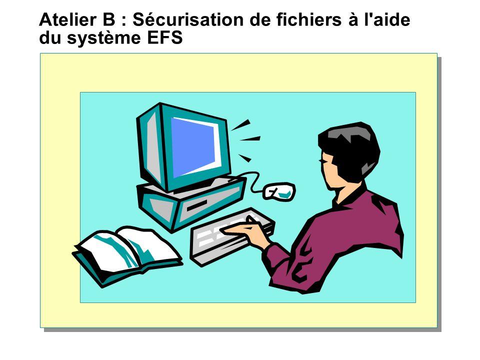 Atelier B : Sécurisation de fichiers à l'aide du système EFS