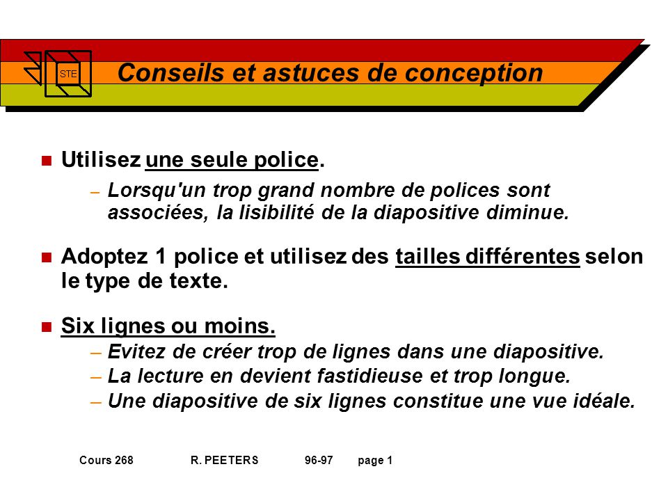 Cours 268 R.