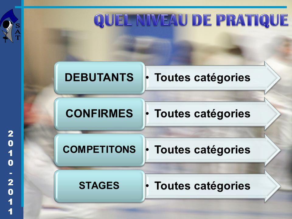 2010-20112010-2011 Toutes catégories DEBUTANTS Toutes catégories CONFIRMES Toutes catégories COMPETITONS Toutes catégories STAGES