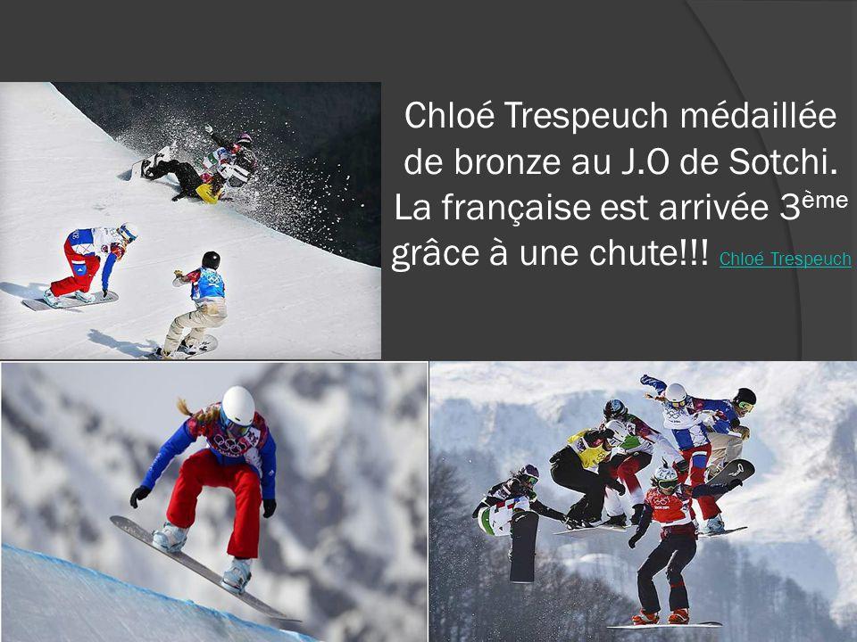 Chloé Trespeuch médaillée de bronze au J.O de Sotchi.