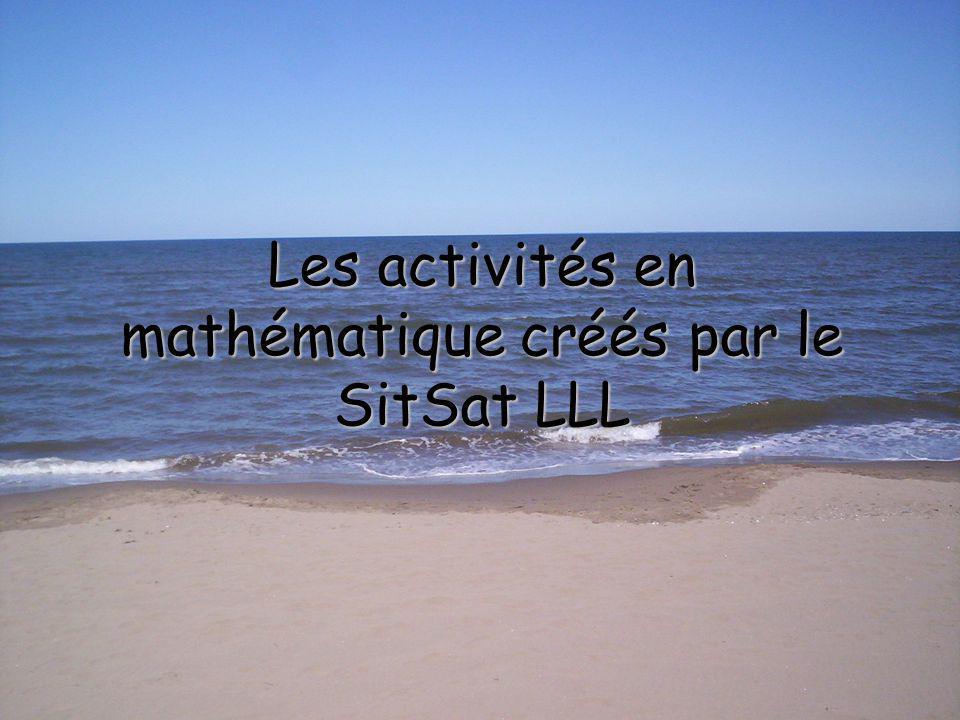 Les activités en mathématique créés par le SitSat LLL