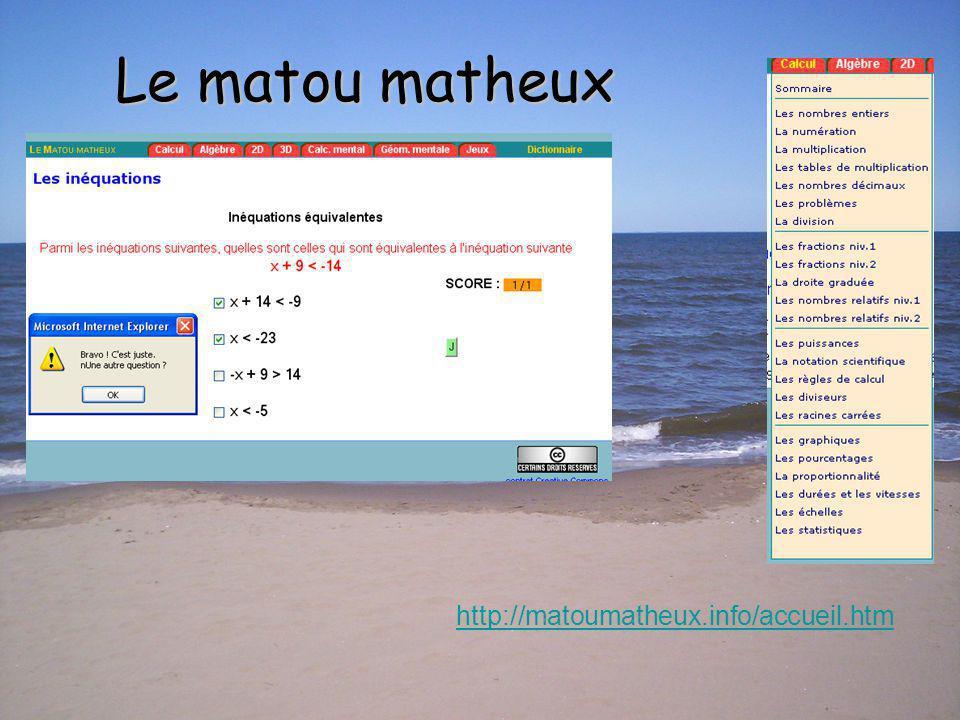 Vitamine Mathématique http://www.vitamath.ca/