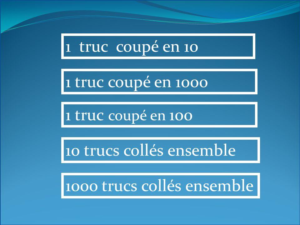 1 centitruc correspond à 10 millitrucs 10 centitrucs 1 hecto truc 10 décitrucs