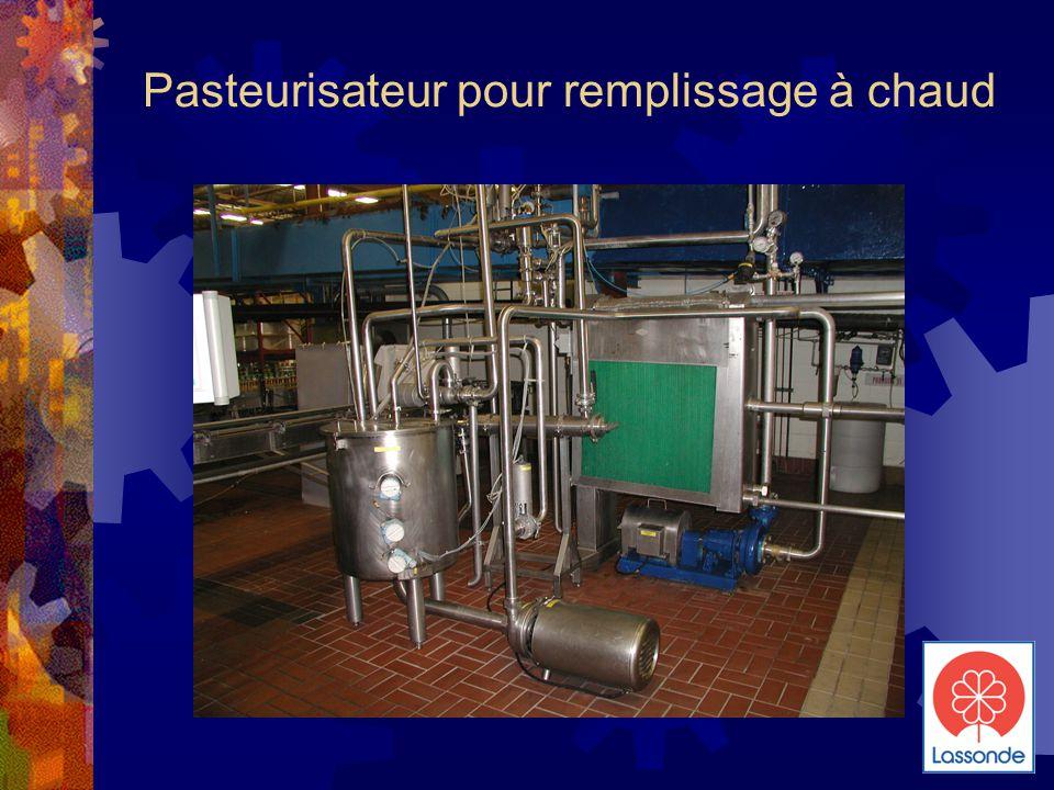Pasteurisateur pour remplissage à chaud
